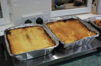 Two large cottage pies ready for an evening's entertaintment