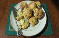 Rosemary, sun-dried tomato and olive savoury scones